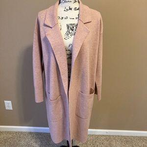 JCrew Ella Open Front Long Sweater Blazer-size M